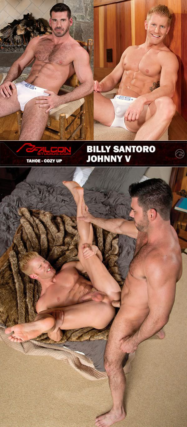 FalconStudios Tahoe Cozy Up - Johnny V Billy Santoro pound each other