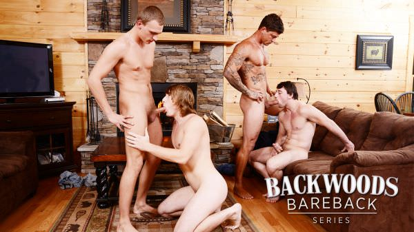 JuicyBoys Backwoods Bareback Part 3 Bryce, Scott Harbor, Sebastian Young Tom Faulk