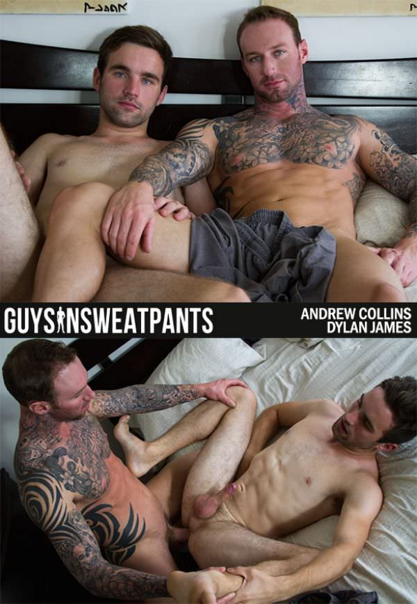 GuysInSweatpants Dylan James' First Video Andrew Collins Dylan James Bareback
