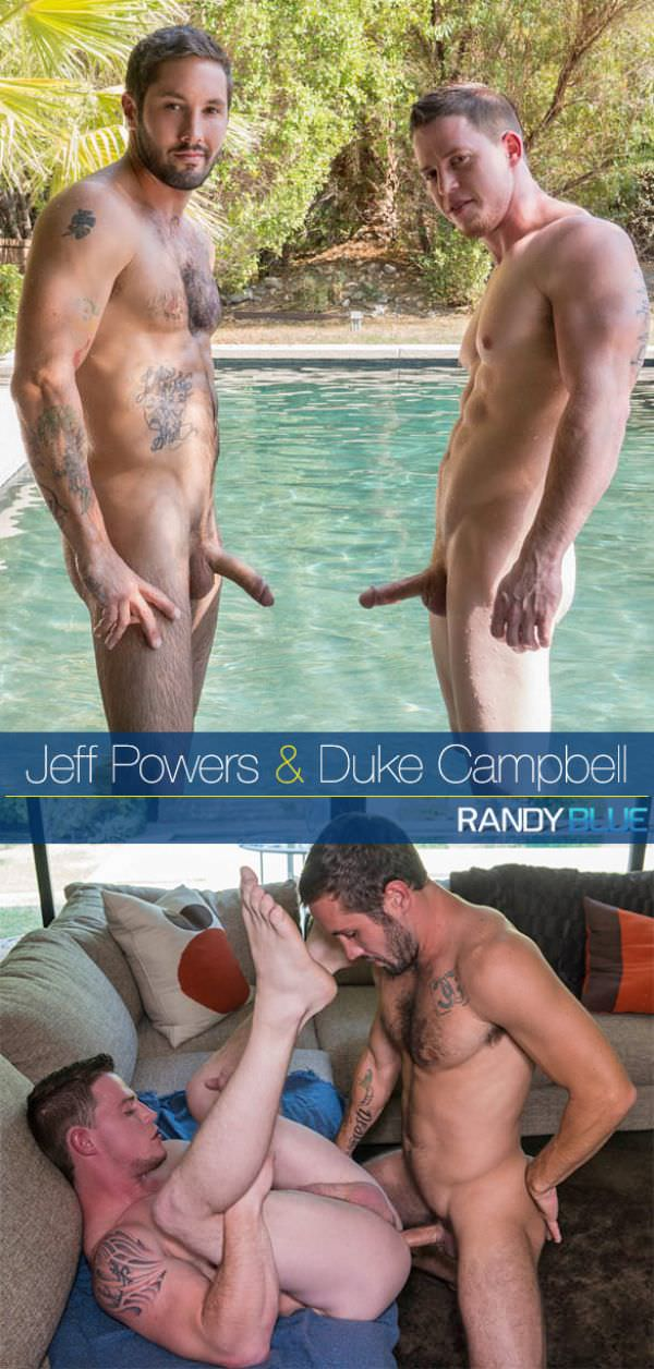 Randy Blue Jeff Powers creampies Duke Campbell Bareback
