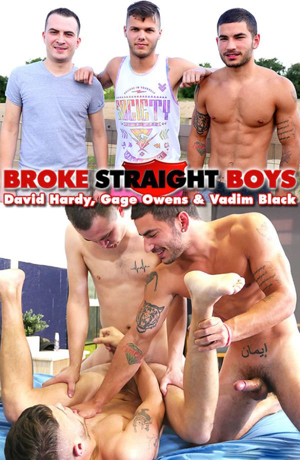 BrokeStraightBoys David Hardy Vadim Black Double Penetrate Gage Owens