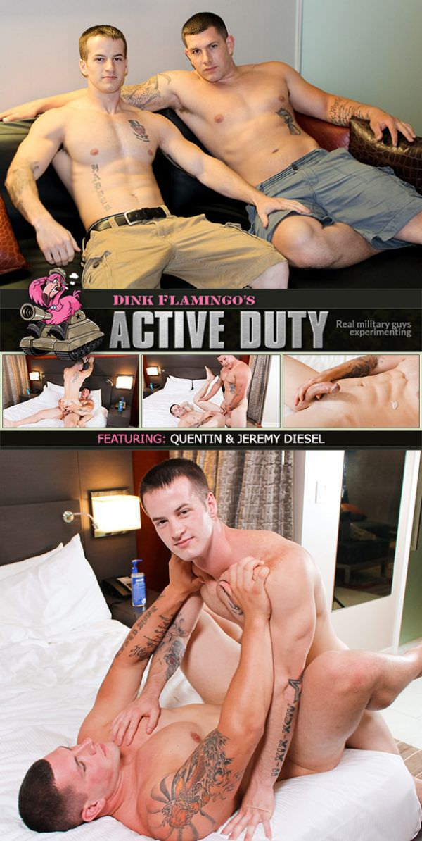 ActiveDuty Quentin fucks Jeremy Diesel's virgin ass Bareback