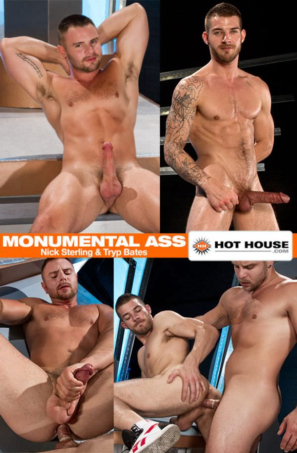 HotHouse Monumental Ass Nick Sterling and Tryp Bates flip fuck