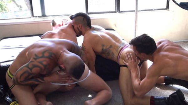 RawFuckClub - Folsom Fucking Four Part 1 Derrick Hanson, Aarin Asker, Adam Avery Billy Warren Bareback