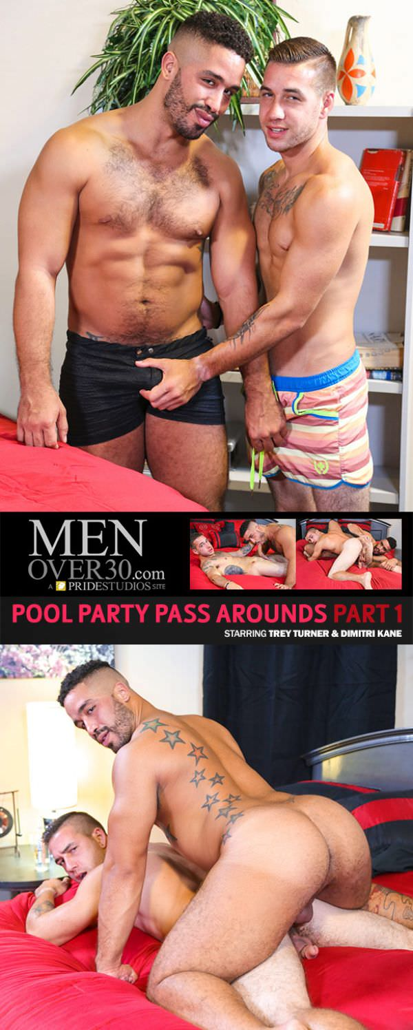 MenOver30 Pool Party Pass Arounds, Part 1 Trey Turner fucks Dimitri Kane
