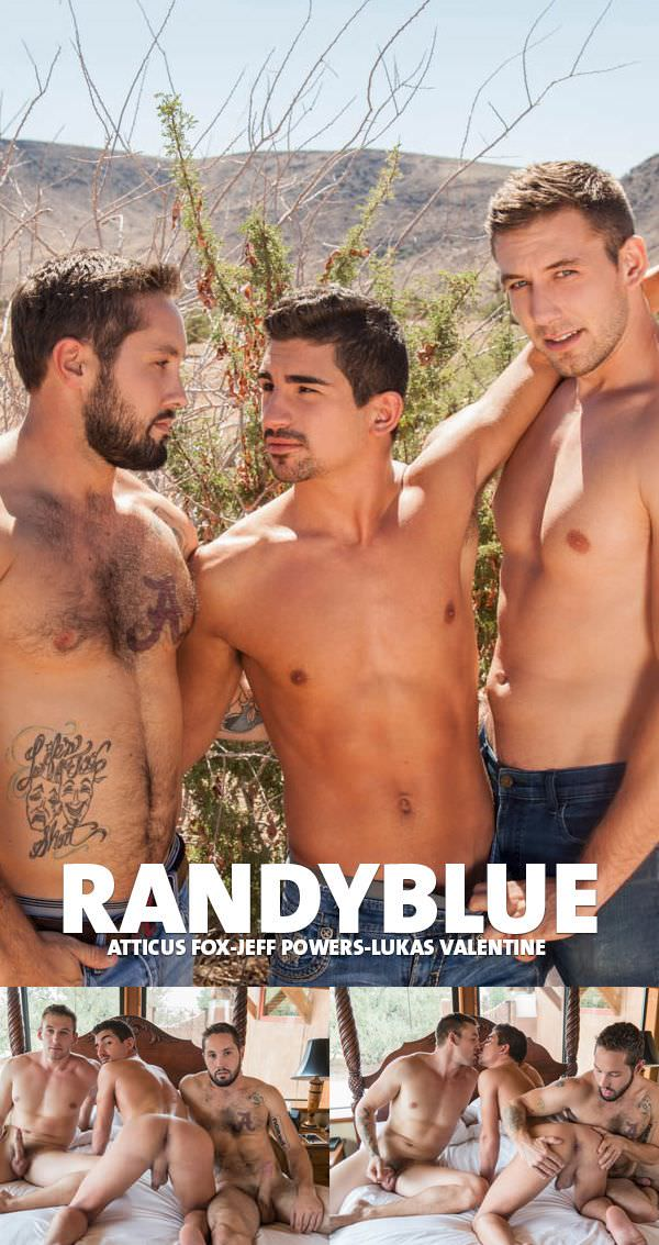RandyBlue Atticus Fox takes Jeff Powers and Lukas Valentines Raw Loads Bareback