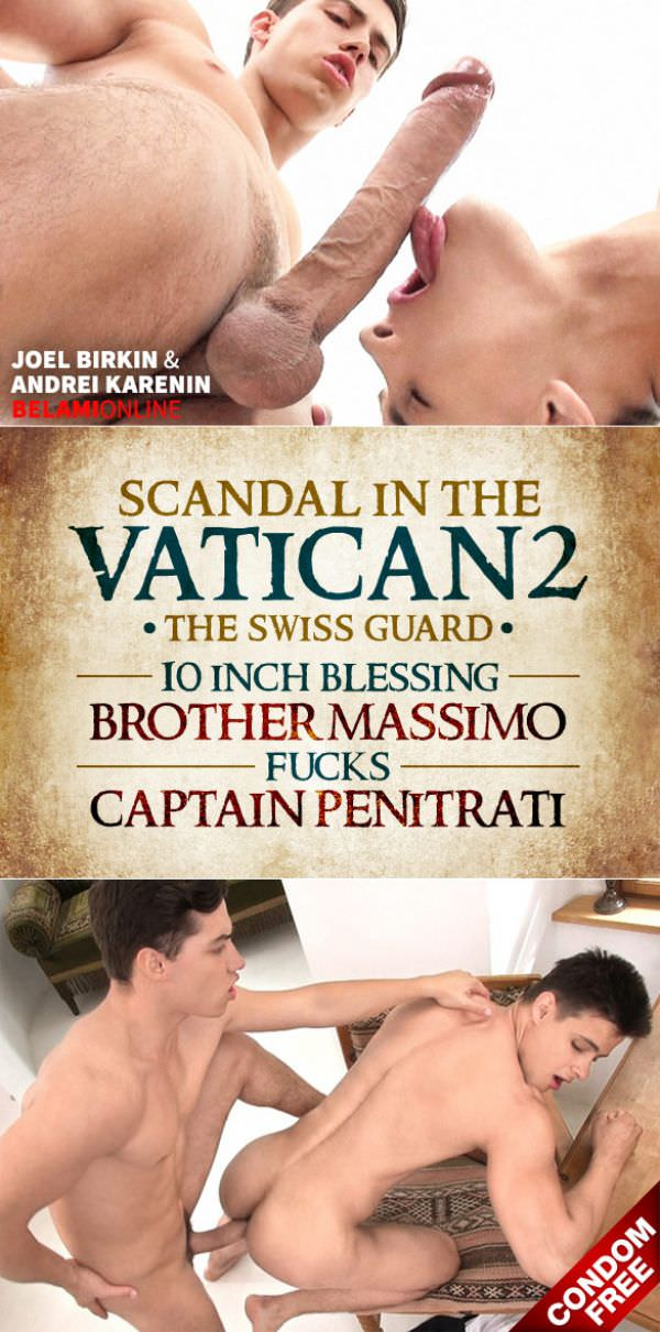 BelamiOnline Scandal in the Vatican 2 10 INCH BLESSING Brother Massimo Captain Penitrati Joel Birkin Andrei Karenin Bareback