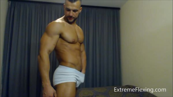 AllAmericanGuys Strip Flex Naked & Hard Cock Contest shape Hot Fighter Raul