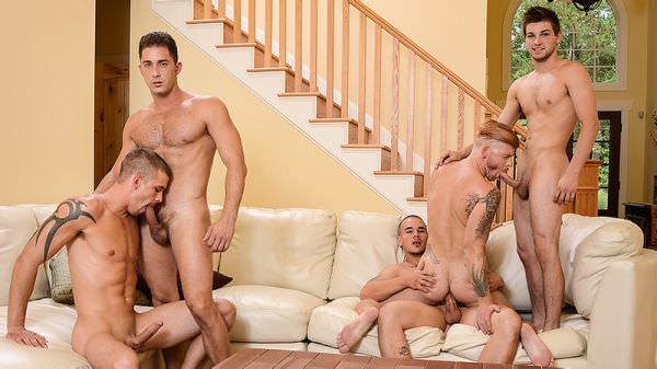 JizzOrgy Stop In Adam Bryant Armando De Armas Bennett Anthony Darin Silvers Johnny Rapid Men.com