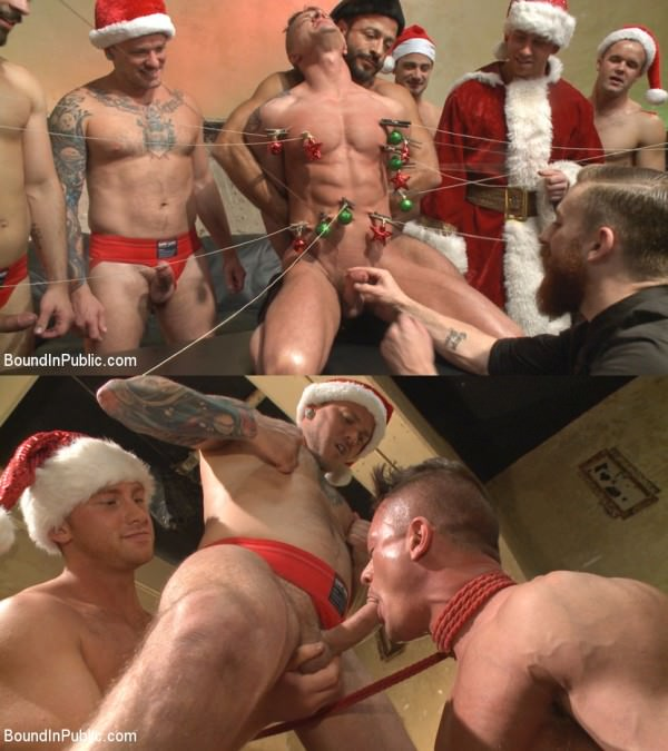 BoundInPublic Connor Maguire Rex Cameron Vinnie Stefano Stuffing the holiday whore