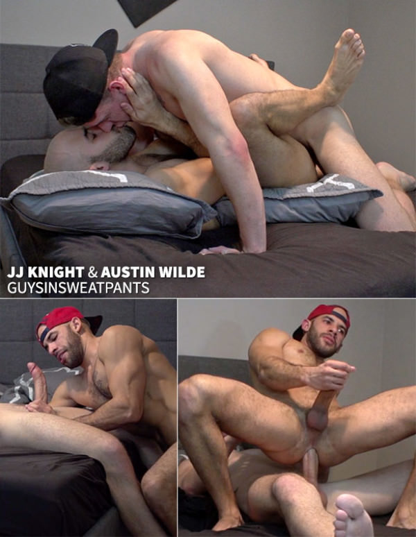 GuysInSweatpants Austin Wilde takes JJ Knight's big cock Raw
