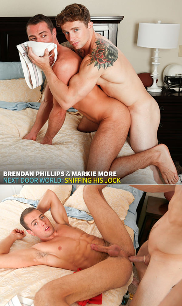 NextDoorWorld Sniffing His Jock - Markie More fucks Brendan Phillips