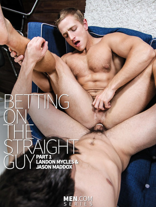 Str8toGay Betting on the Straight Guy, Part 1 Jason Maddox fucks Landon Mycles Men.com