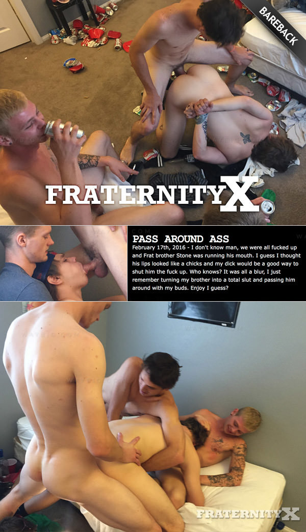 FraternityX Pass Around Ass Stone, Corey, John Jessie Bareback