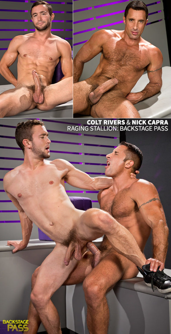 RagingStallion Backstage Pass Nick Capra pounds Colt Rivers