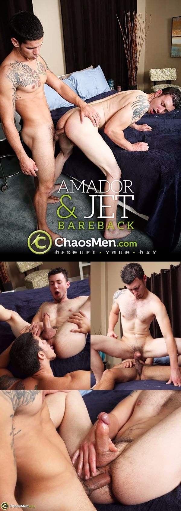 ChaosMen Amador Fucks Two Loads Out of Jet Raw