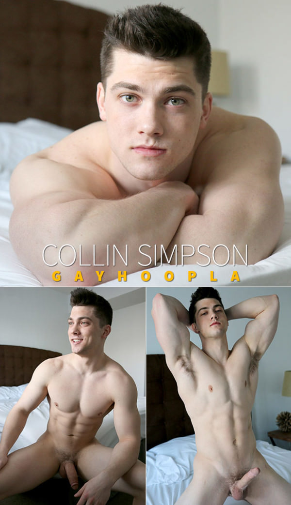 GayHoopla Wrestler Turned Bodybuilder Collin Simpson Solo