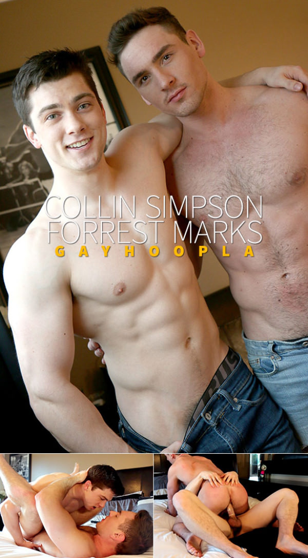GayHoopla Newcomer Collin Simpson pounds Forrest Marks