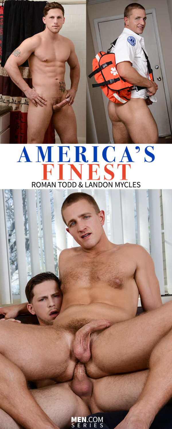 DrillMyHole America's Finest, Part 2 Roman Todd fucks Landon Mycles Men.com