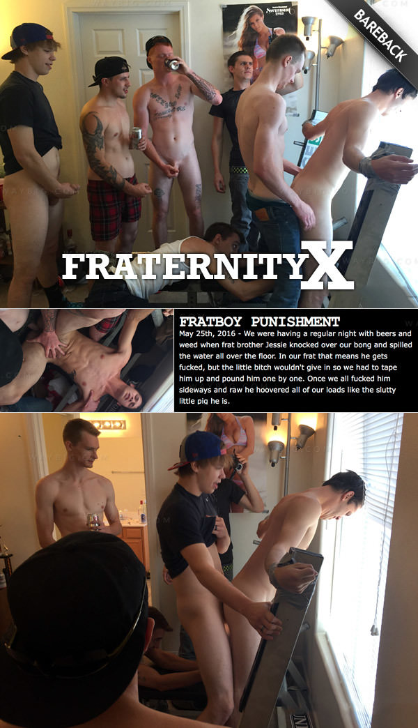 FraternityX Fratboy Punishment Bareback