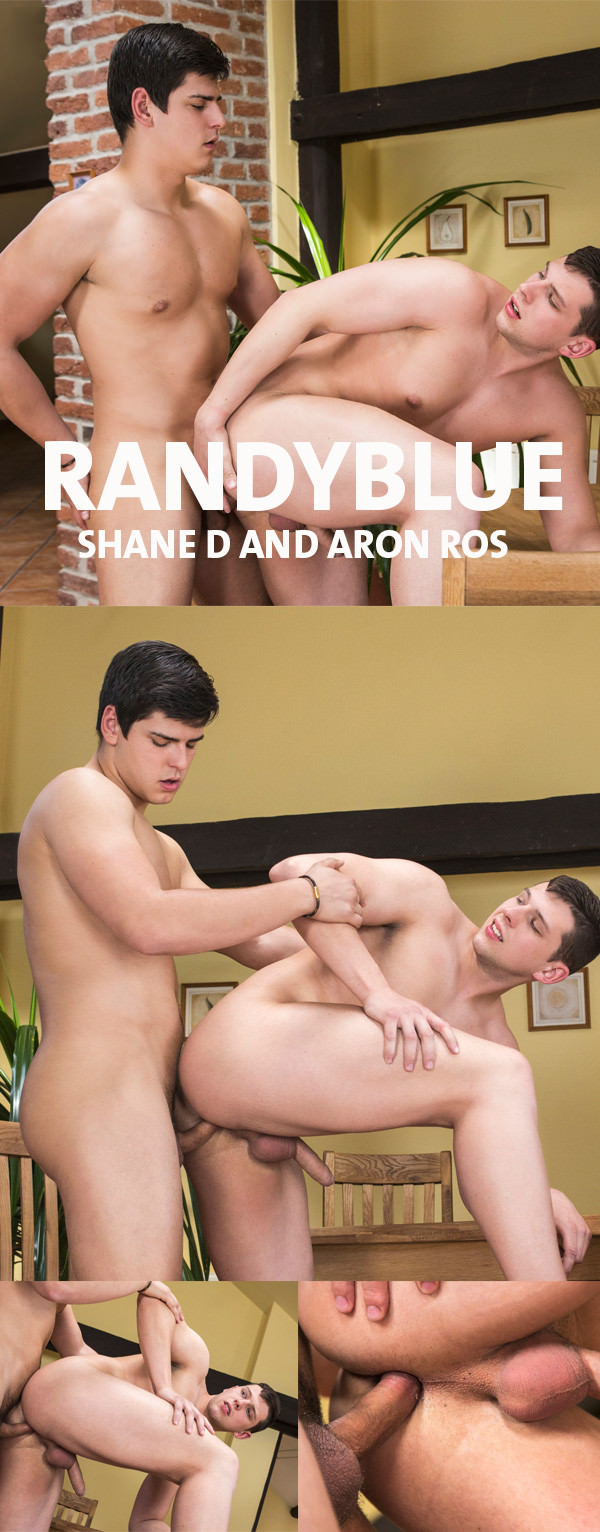 RandyBlue Hot young muscle studs Aron Ros and Shane D have a hot bareback fuck
