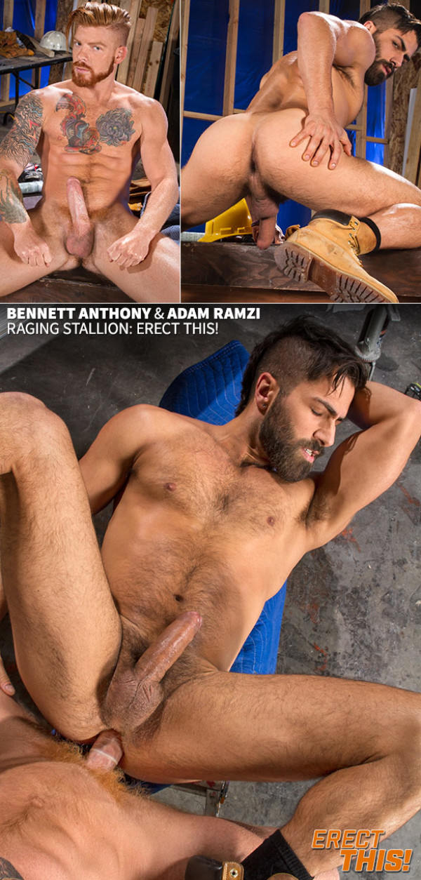 RagingStallion Erect This Bennett Anthony and Adam Ramzi flip fuck