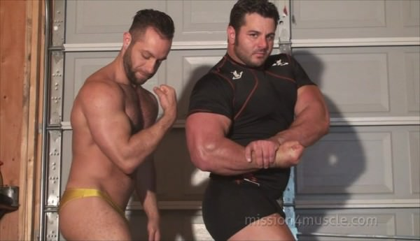 Mission4muscle Naked Battle Frank The Tank vs Tony Larson