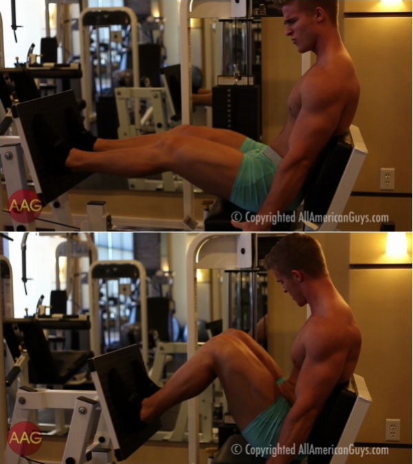 AllAmericanGuys Alex C. works out legs