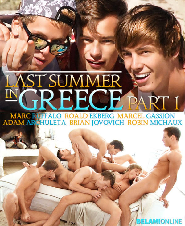 BelAmiOnline Last Summer in Greece, Part 1 Marc Ruffalo, Roald Ekberg, Marcel Gassion, Adam Archuleta, Brian Jovovich, and Robin Michaux blow each other