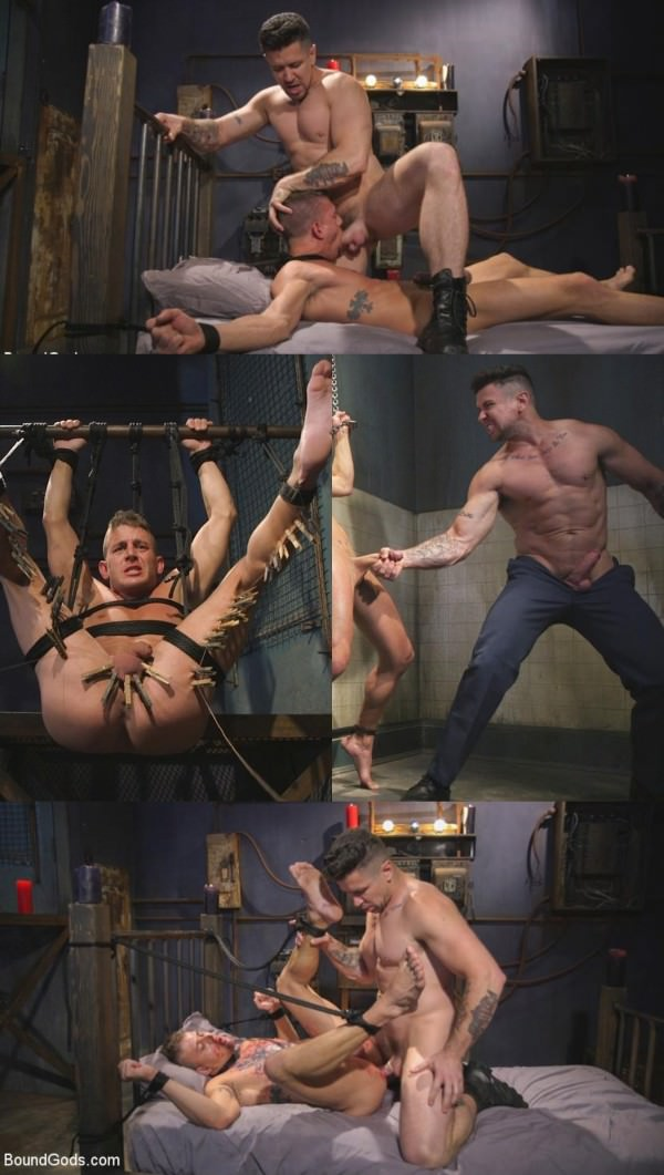Boundgods Anal Whore taken for a Candlelit Night of Hot Wax and Hard Flogging Trenton Ducati Alexander Gustavo