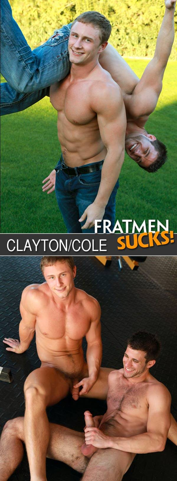 Fratmen Sucks Clayton Cole