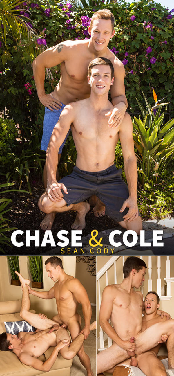 SeanCody Chase fucks Cole's tight hole bareback