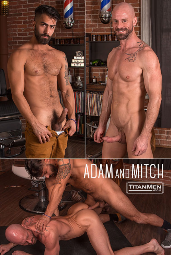 TitanMen Muscle hunk Mitch Vaughn bottoms for Adam Ramzi