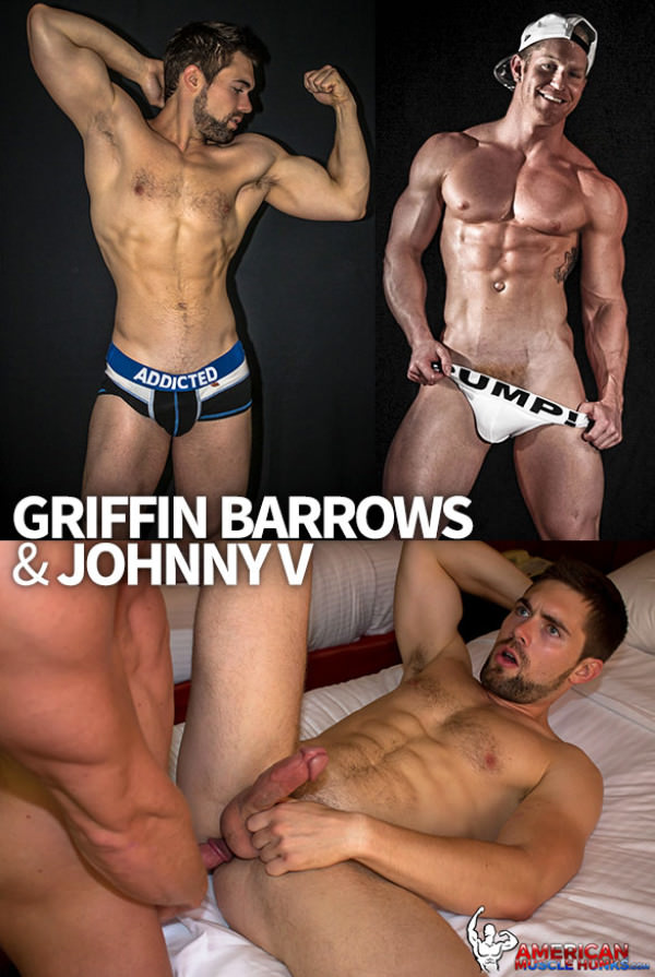 AmericanMuscleHunks Johnny V pounds Griffin Barrows