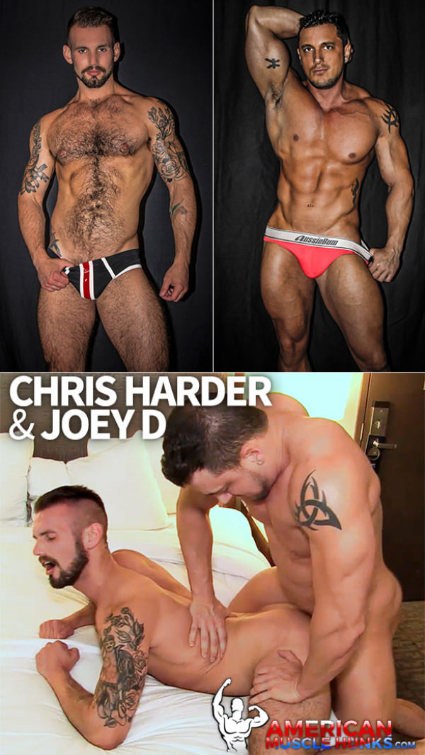 AmericanMuscleHunks Chris Harder bottoms for Joey D