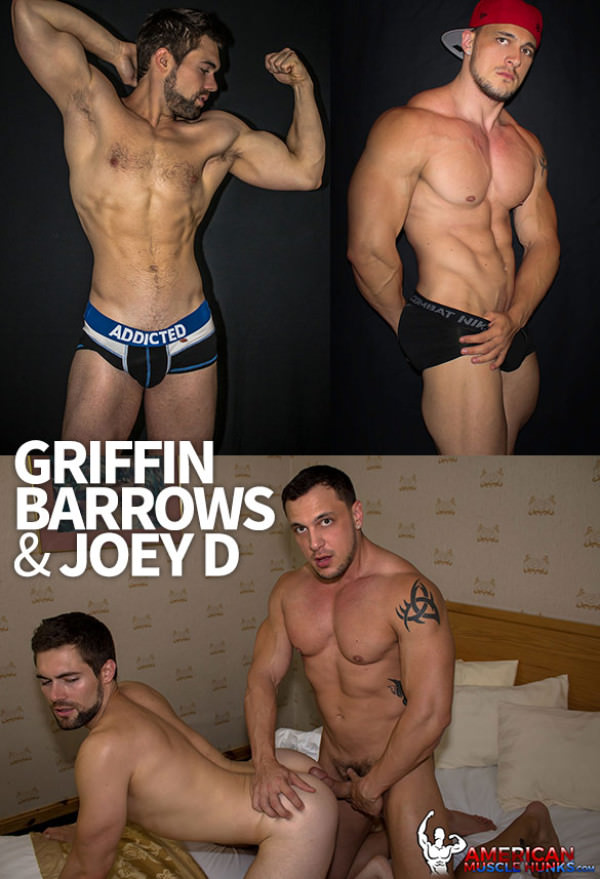 AmericanMuscleHunks Joey D bangs Griffin Barrows