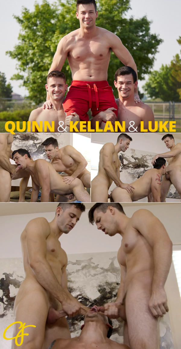 CorbinFisher Kellan, Quinn Luke's raw threesome