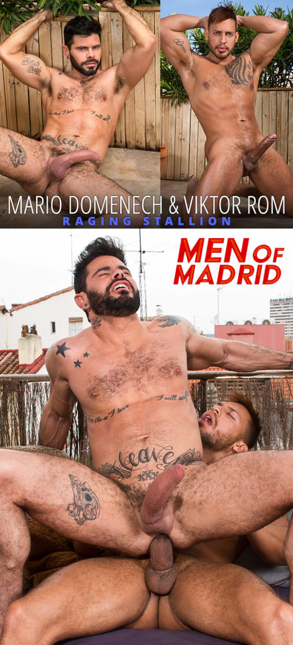 RagingStallion Men of Madrid Mario Domenech gets fucked by Viktor Rom