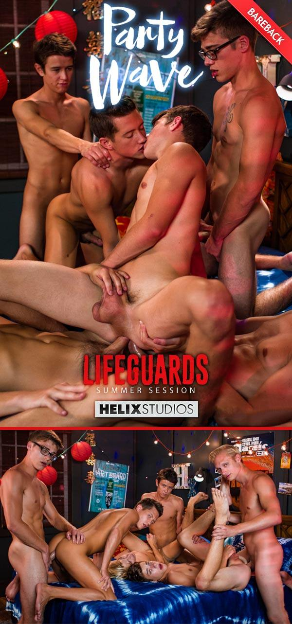 HelixStudios Lifeguards: Party Wave Orgy Max Carter, Kyle Ross, Evan Parker, Tyler Hill, Blake Mitchell Joey Mills Bareback