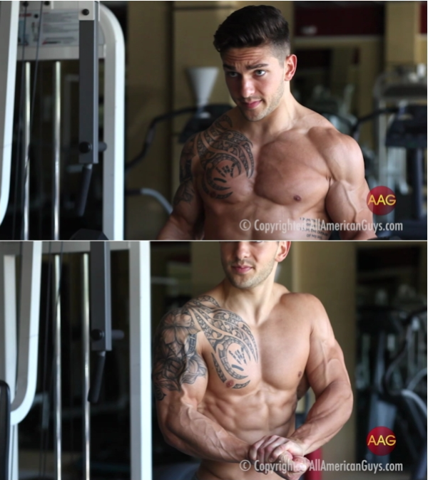 AllAmericanGuys Dalton, fitness newcomer in the gym