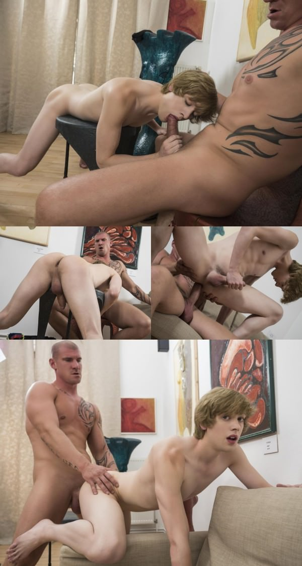 RandyBlue Sexy daddy Max Born barebacks ginger twink Johannes Lars