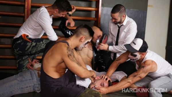 Hardkinks The Purge: A Gay Porn Parody Chapter 3 Abraham Montenegro, Angel Cruz, Dominique Kenique, Josh Milk, Rafa Marco Valentino Ribas