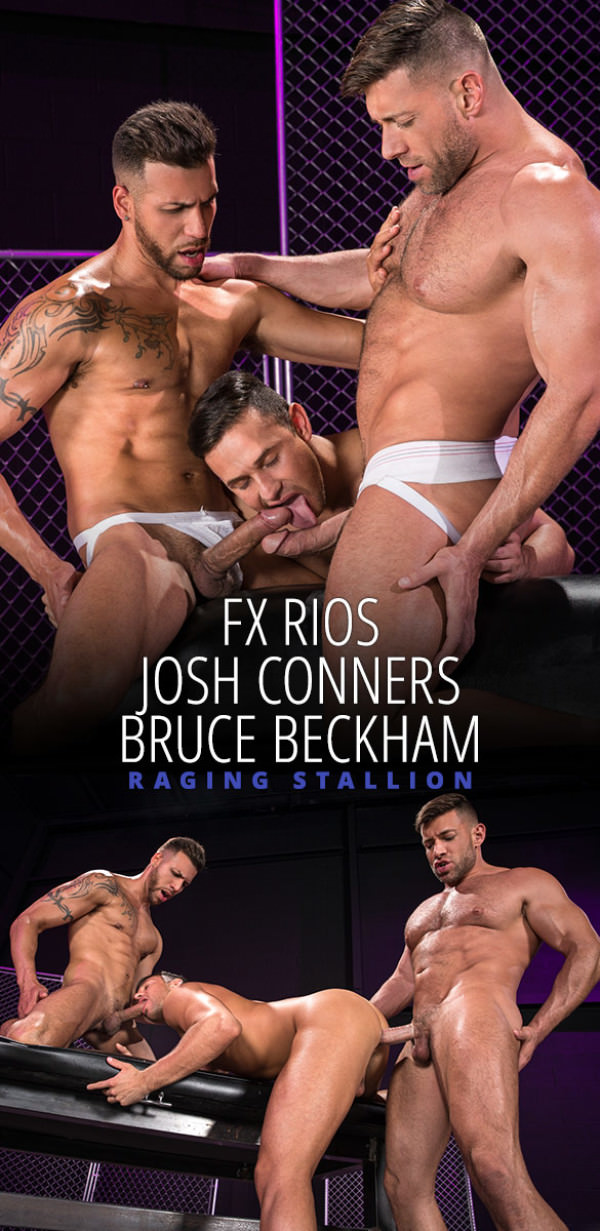 RagingStallion Primal Bruce Beckham and FX Rios tag team Josh Conners