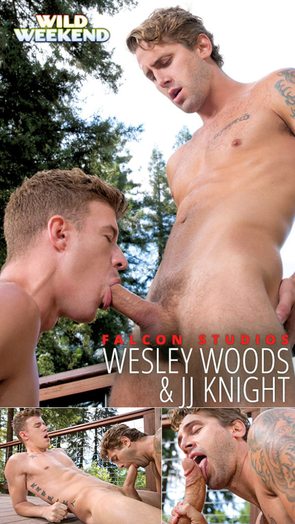 FalconStudios Wild Weekend - Part 2 JJ Knight and Wesley Woods blow each other