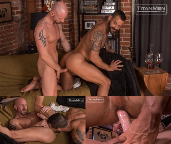TitanMen Silverlake Mitch Vaughn rides David Benjamin's hairy muscle ass