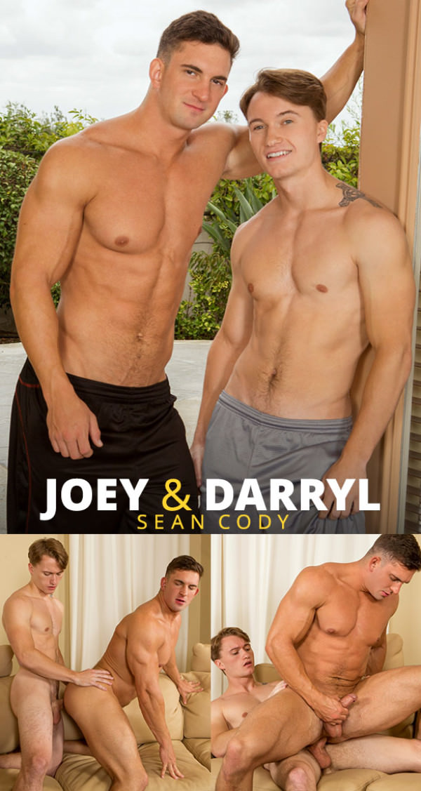 SeanCody Newcomer Darryl has gay sex for the first time with muscle bottom Joey