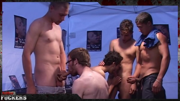 BackRoomFuckers Suck Fest At The Sex Show Part 3
