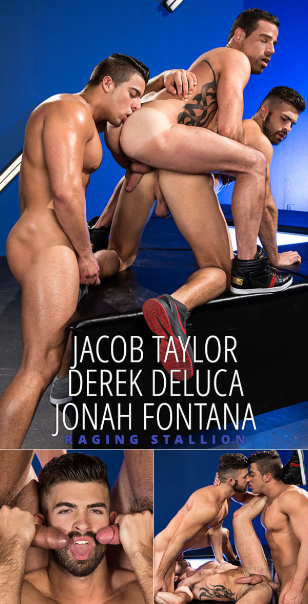 RagingStallion Bout to Bust - Jacob Taylor, Derek Deluca Jonah Fontana's threeway