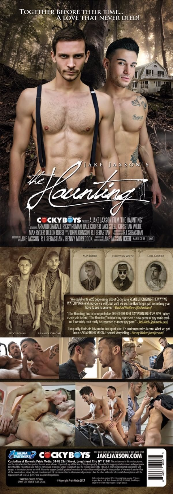 CockyBoys The Haunting - Full Feature - Arnaud Chagall, Christian Wilde, Dale Cooper, Dillon Rossi, Jake Steel, Max Ryder Ricky Roman