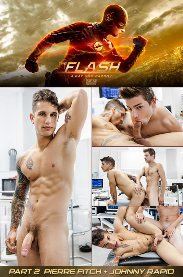 SuperGayHero The Flash A Gay XXX Parody Part 2 Johnny Rapid fucks Pierre Fitch Men.com